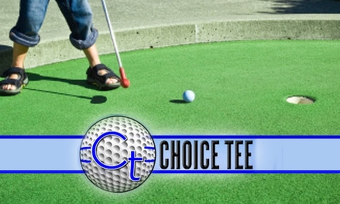 Choice Tee Fully Automated Driving Range - Northwest Harris: $20 Mini-Golf Game for Four Plus Drinks, Snacks, and Two Souvenir Fun Balls at Choice Tee Fully Automated Driving Range
