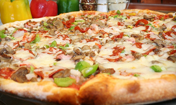 Bella Pizzeria - Multiple Locations: 14-Inch or 18-Inch Specialty-Pizza Meal with Breadsticks and Soda at Bella Pizzeria (Up to 59% Off)