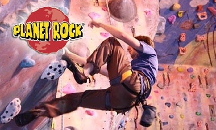 Planet Rock - Multiple Locations: $45 for an Adult Starter Package Plus a Two-Week Unlimited Pass at Planet Rock ($112 Value)