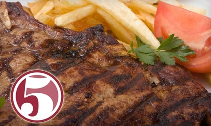 Five - Tuscaloosa: $15 for $30 Worth of Entrees and Starter Snacks at Five in Tuscaloosa