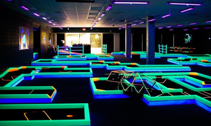Cosmic Mini Golf - The Great Mall: Cosmic Indoor-Mini-Golf Outing for Two or Four at Lunar Mini Golf in Olathe (Up to Half Off)