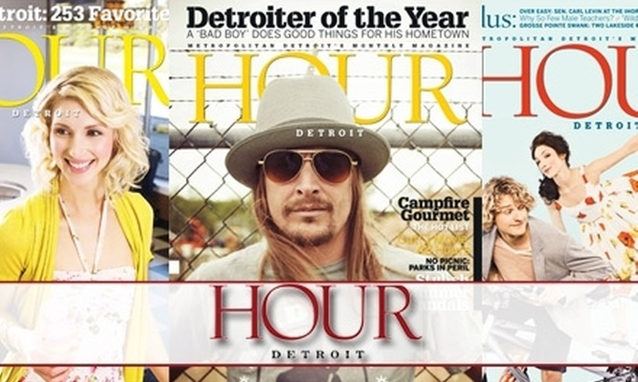 """Hour Detroit"" Magazine: $8 for a One-Year Subscription to ""Hour Detroit"" Magazine ($17.95 Value)"