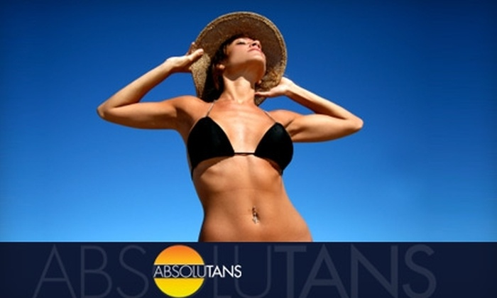 AbsoluTans - Brickell: $30 for Five Vector Bed Sessions ($69 Value) or Three Spray Tans ($75 Value) at AbsoluTans