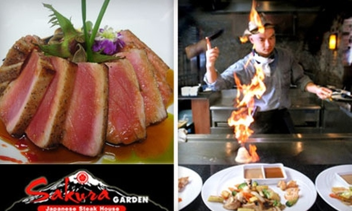 Sakura Garden Japanese Steak House - Hartford: $17 for $35 Worth of Japanese Cuisine at Sakura Garden Japanese Steak House