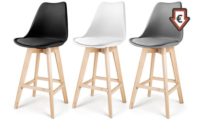 jusqu 39 56 tabourets de bar laikan groupon. Black Bedroom Furniture Sets. Home Design Ideas