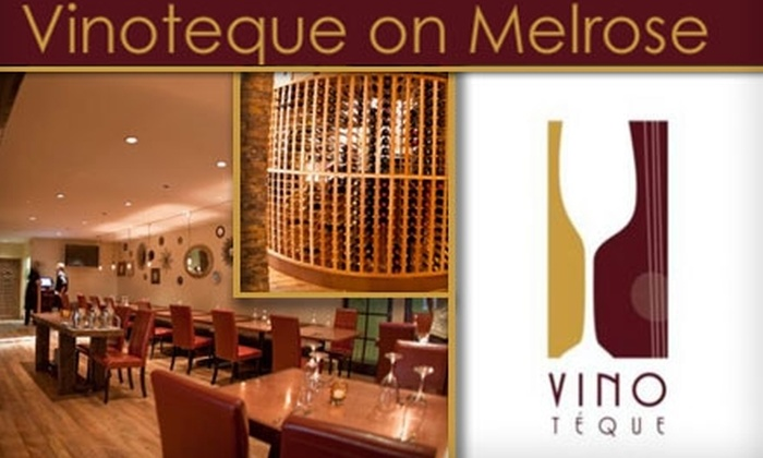 Vinoteque - Melrose: $10 for a Three-Course Wine and Appetizer Pairing at Vinoteque on Melrose ($20 Value)