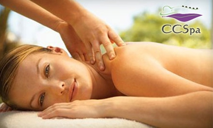 CC Spa - New Albany: $55 for a 90-Minute Hot Stone Massage and Full Body Exfoliation Package ($175 Value) or a Fruit-Acid Peel, Microdermabrasion, and Facial Package ($170 Value)