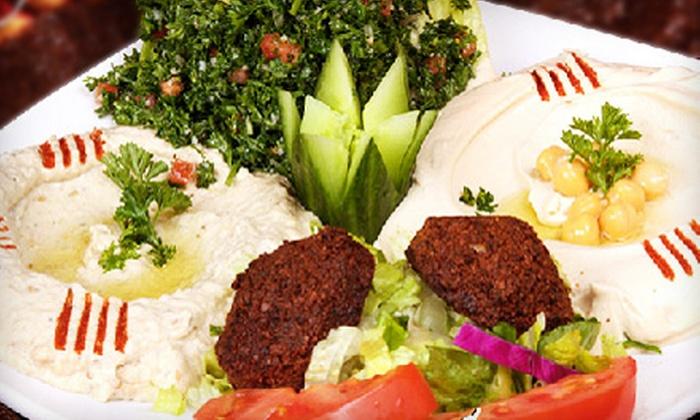 Sahara Restaurant & Grill - Multiple Locations: $15 for $30 Worth of Mediterranean Cuisine at Sahara Restaurant & Grill
