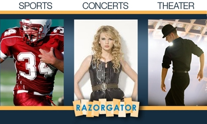 Razor Gator - Phoenix: $25 for $50 Toward Any Concert, Theater, or Sporting Event Ticket on RazorGator