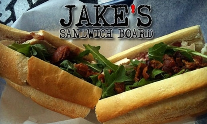 Jake's Sandwich Board - Center City East: $5 for $10 Worth of Sandwiches at Jake's Sandwich Board