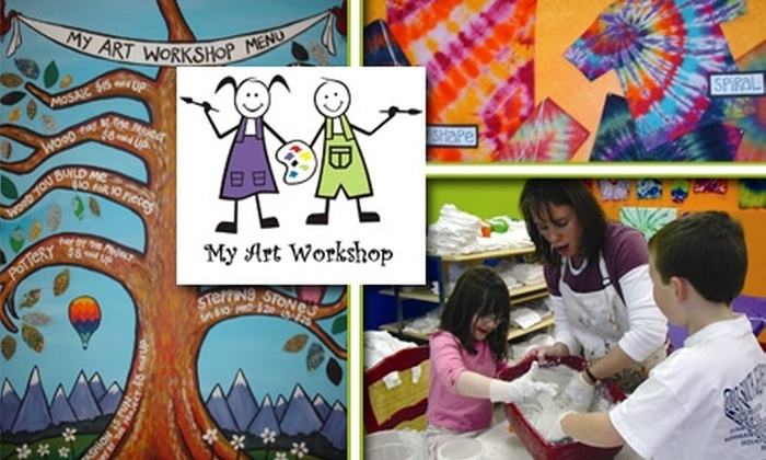 My Art Workshop - Governors Ranch: $20 for $40 Toward Pottery, Tie Dye, Mosaics, Clay, Classes and More at My Art Workshop