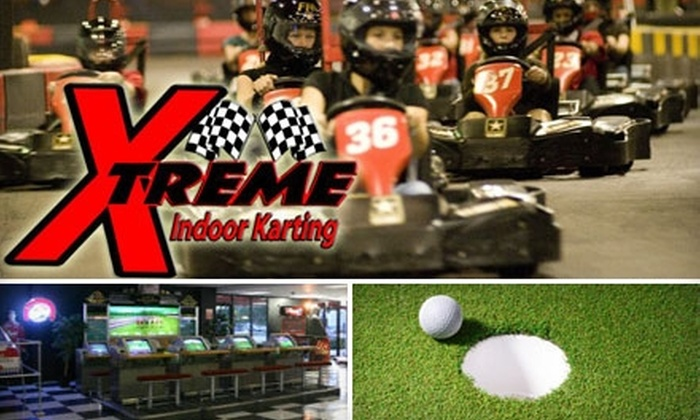 Xtreme Indoor Karting - North Fort Lauderdale: Racing, Arcade Games, and Mini-Golf at Xtreme Indoor Karting. Choose from Two Options.