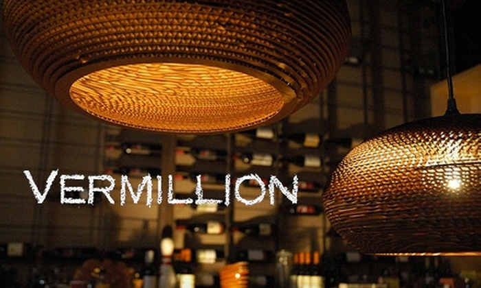 Vermillion Art Gallery & Bar - Broadway: $10 for $20 Worth of Wine and Light Bites at the Vermillion Art Gallery & Bar