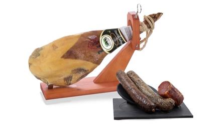 1 o 2 paletas serranas dinastía Jabugo más lotes de embutidos Gourmet