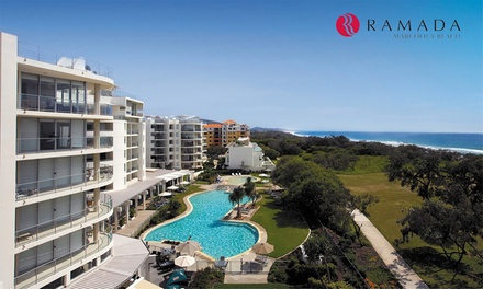 Sunshine Coast: 2 or 3Night Stay for Up to 4 People with Bike and DVD Hire and Late CheckOut at Ramada Marcoola Beach