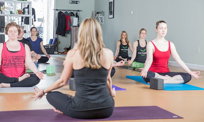 Mat Happy Yoga - Northwest Columbus: Five or Ten 60- or 75-Minute Yoga Classes at Mat Happy Yoga (Up to 50% Off)