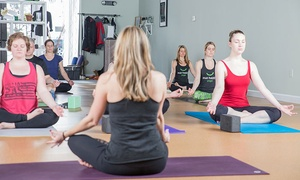 Mat Happy Yoga: Five or Ten 60- or 75-Minute Yoga Classes at Mat Happy Yoga (Up to 50% Off)