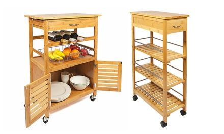 kitchen trolley storage carts