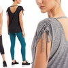 Marika Women's Open Back Scrunched Tee. Plus Sizes Available.