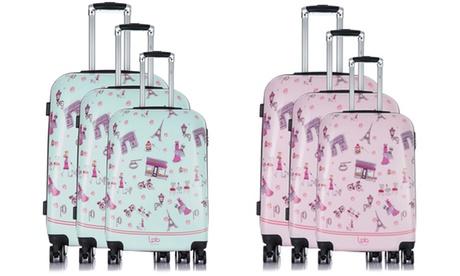 Set 3 maletas de policarbonato Alexia Oferta en Groupon