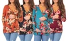 Women's Floral Print Criss-Cross Maternity Nursing Tunics