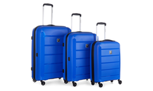 Hard-Sided Spinner Luggage Set: Blue