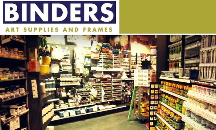 Binders Art Supplies and Frames - Buckhead Forest: $25 for $50 Worth of Art Supplies, Classes, and Framing Services at BINDERS