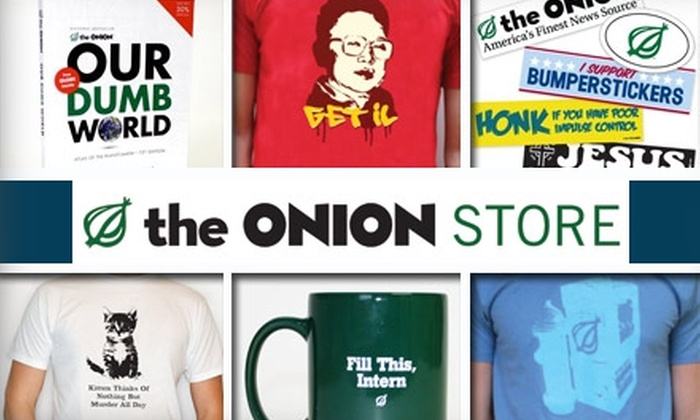 The Onion Store - Indianapolis: $20 for $40 Worth of T-Shirts, Coffee Mugs, Books, and More from The Onion Store