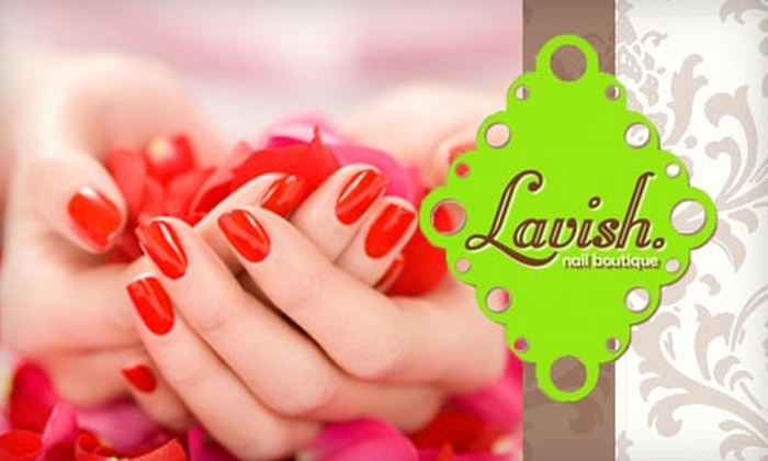 Lavish Nail Boutique - Multiple Locations: $28 for an Essential Manicure and Pedicure at Lavish Nail Boutique (a $60 Value)