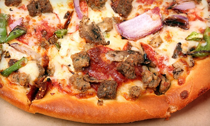 Empire Pizza & Pub - El Presidio: Pizza Dinner for Two or Four at Empire Pizza & Pub (Up to 55% Off)