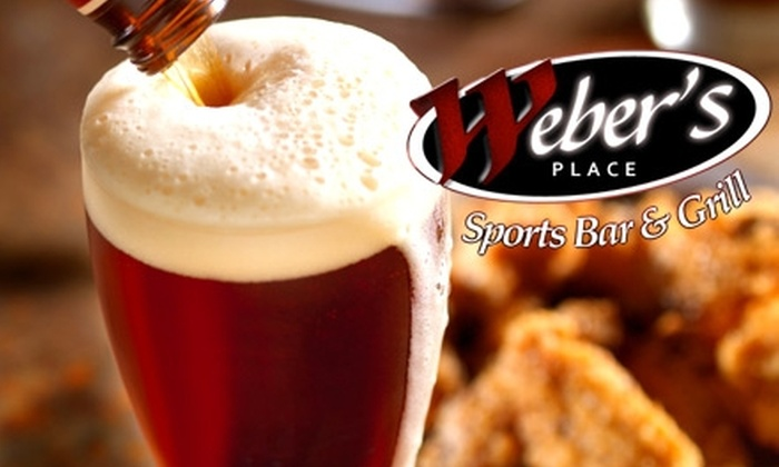 Weber's Place Sports Bar and Grill  - Winnetka: $10 for $20 Worth of Grilled Fare and Drinks at Weber's Place Sports Bar and Grill (or $10 for $25 on Wednesdays)