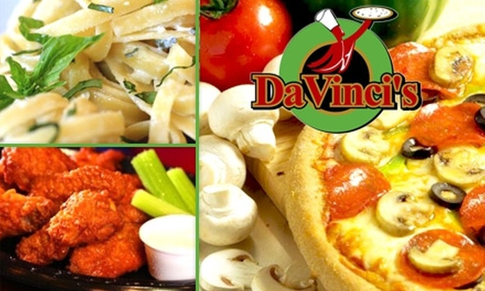 DaVinci's Pizza e Pasta - Greenwood: $10 for $25 Worth of California and NY Style Pizza, Drinks, and More at DaVinci's Pizza e Pasta