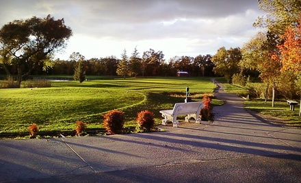 18 Holes of Golf, Cart Rental, and Driving Range Tokens for 2 (up to an $82 value) - Antelope Greens Golf Course in Sacramento