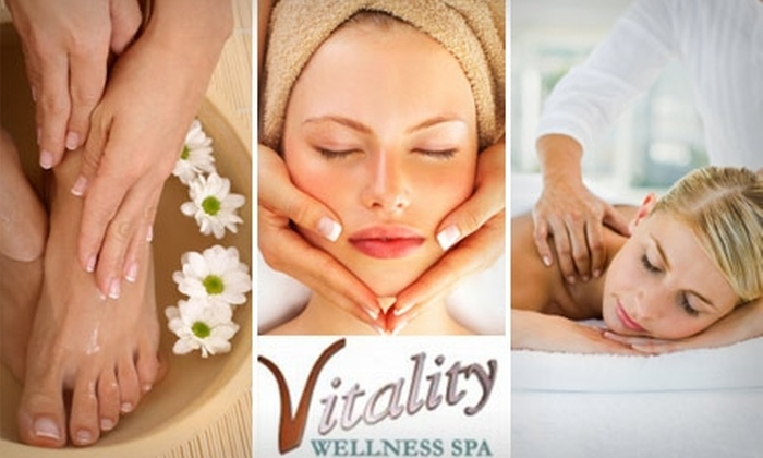 Vitality Wellness Spa - Reading: $45 for Your Choice of a One-Hour Massage, One-Hour Facial, or a Mani-Pedi at Vitality Wellness Spa in Reading (Up to $95 Value)