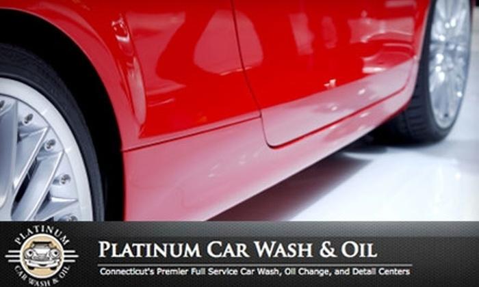 "Platinum Car Wash & Oil  - Prospect: $5 for ""The Works"" Car Wash at Platinum Car Wash & Oil"