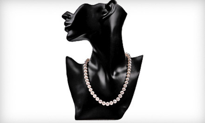 My Pacific Pearls - Highland Crest: $79 for an Authentic 18-Inch Pearl Necklace with 14-Karat White-Gold Filled Clasp from My Pacific Pearls ($450 Value)