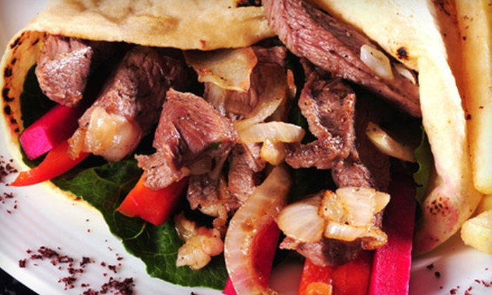 Byblos Lounge - Oak Hill: Lebanese Cuisine at Byblos Lounge (Up to 53% Off). Two Options Available.