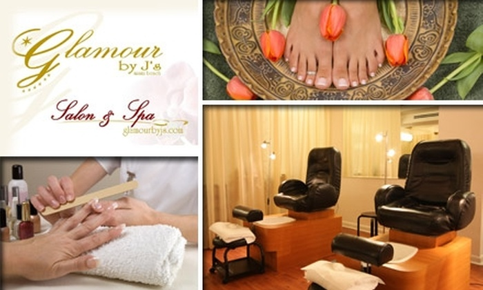 Glamour By J's - South Pointe: $45 for a Brazilian Mani-Pedi with Optional Paraffin at Glamour By J's (Up to $100 Value)