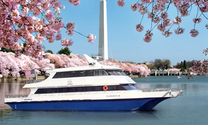 DC Harbor Cruises - Washington DC: Cherry Blossom Springtime Harbor Cruise for One Child or One Adult from DC Harbor Cruises (Half Off)