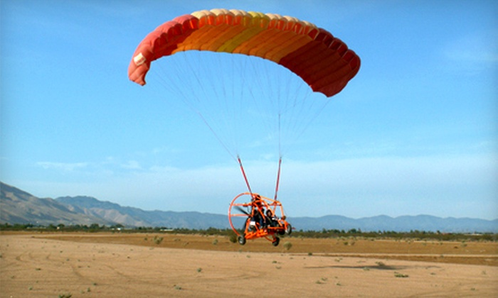Inland Paraflite - Verdemont: 15- or 30-Minute Powered Parachute Introductory ParaFlight from Inland Paraflite