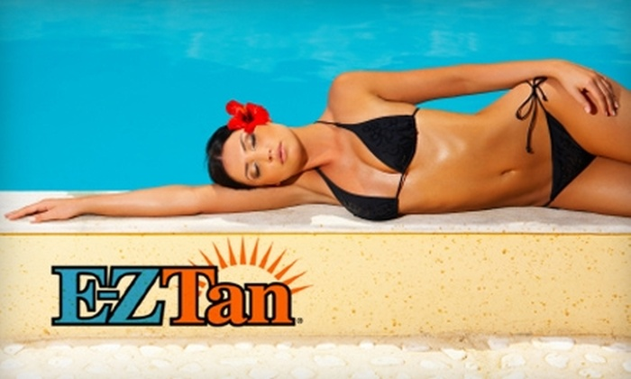 E-Z Tan - Multiple Locations: $30 for One Month of Unlimited Spray and UV Tanning, Plus One Sun Angel Bed Tan, at E-Z Tan