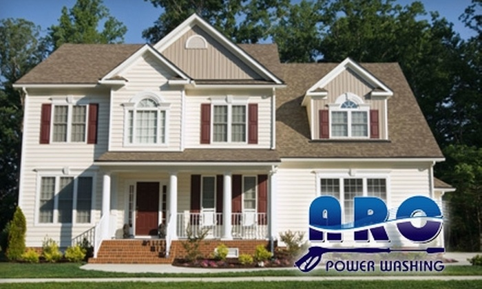 ARC Power Washing - Raleigh / Durham: $75 for a Low-Pressure Home Power Wash from ARC Power Washing ($150 Value)