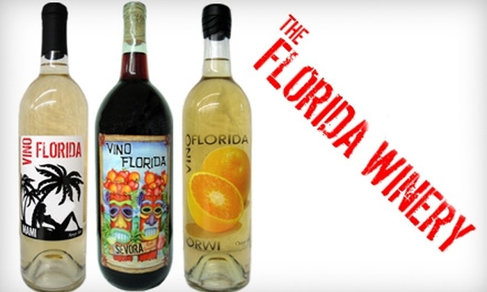 The Florida Winery - Madeira Beach: $10 for $20 Worth of Vino Florida Wine at The Florida Winery in Madeira Beach