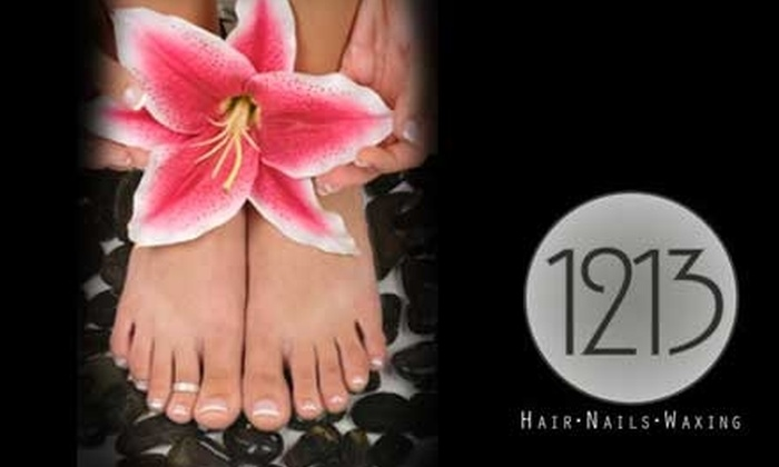 1213 Hair Studio - The Fan: $35 for Rituals Manicure and Pedicure at 1213 Hair Studio ($71 Value)