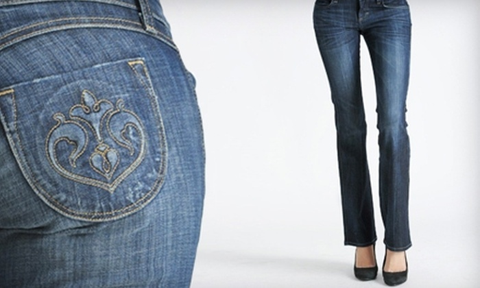 Bottoms Boutique - Downtown: $25 for $50 Toward Jeans, Shoes, and Accessories at Bottoms Boutique