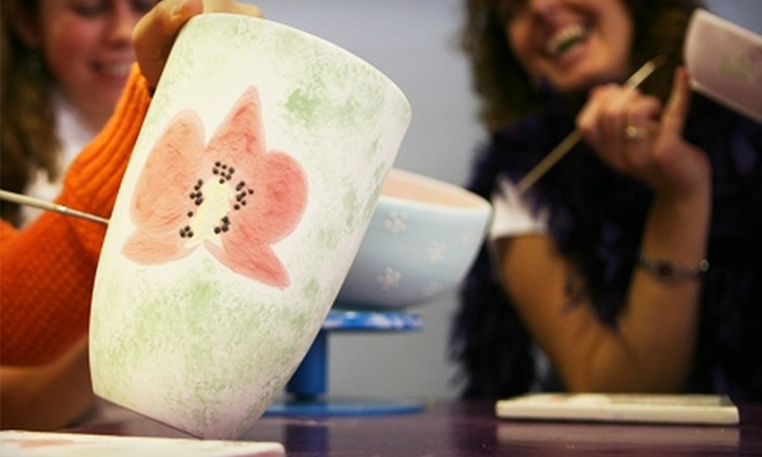 Ceramics & Coffee House @ Paint, Glaze & Fire - Overland Park: $12 for $25 Worth of Studio Fees and Unpainted-Ceramic or Glass Pieces at Ceramics & Coffee House @ Paint, Glaze & Fire in Overland Park