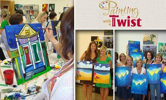 Painting With A Twist In Woodlands Texas Groupon
