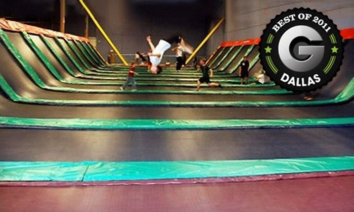 JumpStreet - Villas of Prestonwood Hills-Apartments: Two Hours of Trampoline Jumping and Playtime for One, Two, or Four at JumpStreet (Up to 58% Off)