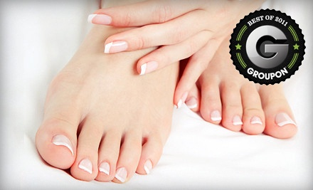 Classic Manicure and Deluxe Pedicure (a $52 value) - Waters of Hadassah Salon and Day Spa in Pensacola