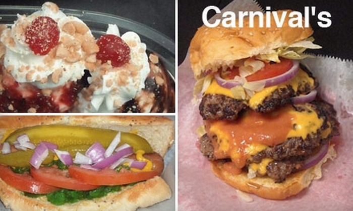 Carnival's - Madison: $7 for $14 Worth of Burgers, Fries, Soft-Serve, and More at Carnival's